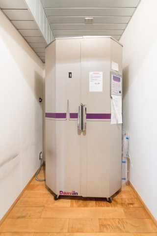 紫外線照射室の扉を閉めたところ